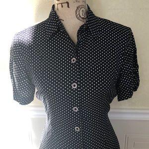 Vintage Polka Dot Button up Dress
